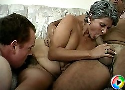 Old chick on a cock fuck ride