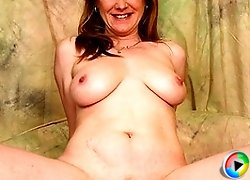 Horny housewife fucks hard and long